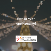 Affinity Translation 10th Anniversary