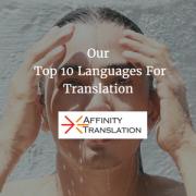 Top Ten Translation Languages