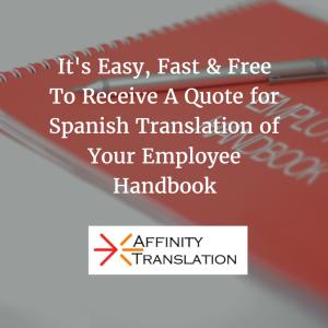 request employee handbook translation quote